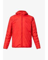 PANGAIA Text-print Biodegradable-polyamide Hooded Jacket - Red