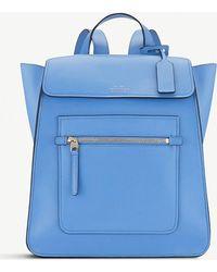Smythson - Nile Blue Bond Leather Backpack - Lyst