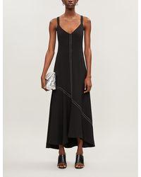 Camilla & Marc Benito Asymmetric Woven Midi Dress - Black