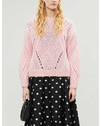 Stine Goya Alex High-neck Mohair-blend Sweater - Pink