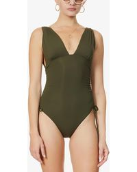 Melissa Odabash Chile Ruched-side Swimsuit - Green