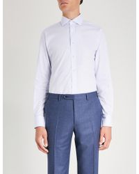 Smyth & Gibson - Tailored-fit Pinstriped Cotton Shirt - Lyst