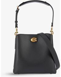 COACH Willow Pebbled Leather Bucket Bag - Black