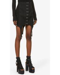 Dion Lee Corset Garter Cotton-blend Mini Skirt - Black