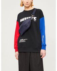 Chocoolate - Contrast-sleeve Cotton-blend Sweatshirt - Lyst