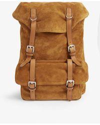 Eleventy Suede Backpack - Brown