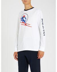 359bb9cbbbf80 Lyst - Polo Ralph Lauren Downhill Skier Long-sleeve T-shirt in Blue ...