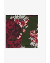 Undercover Und Floral Print Scarf - Green