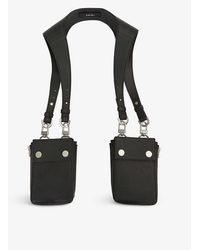 Amiri Button-flap Leather Harness Bag - Black