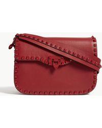 Valentino - Ladies Black Rockstud Leather Messenger Bag - Lyst