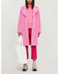 STAND Camille Teddy Coat - Pink
