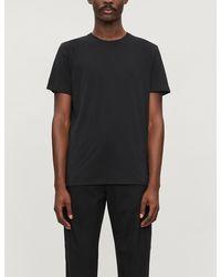 Ralph Lauren Purple Label Crewneck Cotton-jersey T-shirt - Black