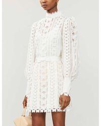 Zimmermann Super Eight Linen And Silk-blend Top - White
