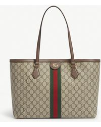 Gucci Ophidia Medium GG Supreme Canvas Tote Bag - Natural