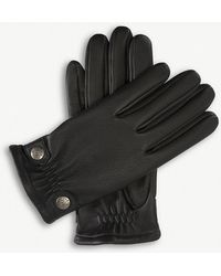 Dents - Studded Leather Gloves - Lyst