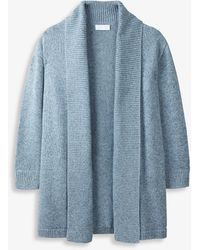 The White Company Rib-trimmed Cotton Cardigan - Blue