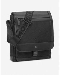 Montblanc Nightflight Leather And Nylon Reporter Bag - Black
