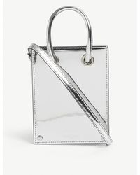 The Kooples Holographic Micro Woven Top-handle Bag - Multicolour