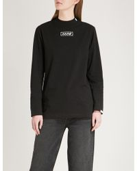 Aape - Logo-embroidered Cotton-jersey Sweatshirt - Lyst