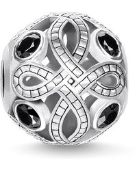 Thomas Sabo Love Knot Zirconia And Sterling Silver Karma Bead - Metallic