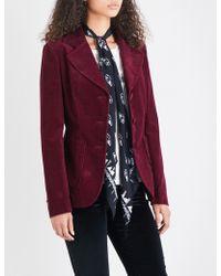 Rockins Classic Corduroy Blazer - Red