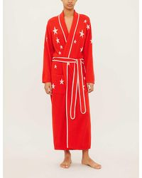 Chinti & Parker Star-intarsia Cashmere Dressing Gown - Red