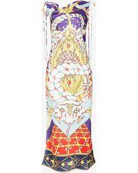 Daily Paper Lunoh Cowl-neck Satin Maxi Dress - Blue