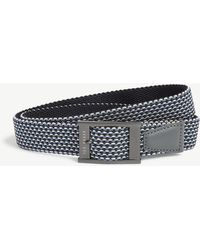 Ted Baker Columm Woven And Leather Reversible Belt - Blue