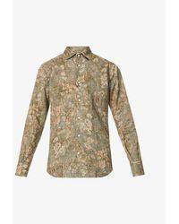 Slowear Floral-print Linen And Cotton-blend Shirt - Multicolour