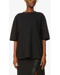 Fenty Graphic-print Oversized Cotton-jersey T-shirt - Black