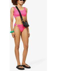 Cleonie Swim Finn Mini Brief High-rise Recycled-blend Bikini Bottoms - Multicolour