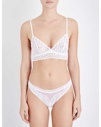 Triumph Amourette Spotlight Stretch-lace Soft-cup Bra - White