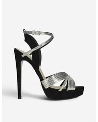 KG by Kurt Geiger Sammy Faux-leather Metallic Strap Sandals - Multicolour