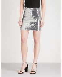 Mo&co. - High-rise Sequin Skirt - Lyst