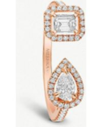 Messika - My Twin Toi & Moi 18ct Pink-gold And Diamond Ring - Lyst