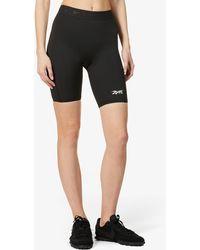 Reebok X Victoria Beckham Logo-print High-rise Stretch-recycled Polyester Shorts - Black