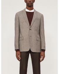 Emporio Armani - Regular-fit Wool-blend Blazer - Lyst