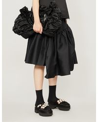 ShuShu/Tong Asymmetric-tier Twill Skirt - Black