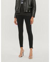 Pinko Sabrina Frayed-hem Skinny High-rise Jeans - Black