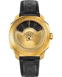 Versace - Vqu02 0015 Dylos Leather Watch - Lyst