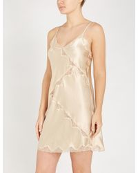 Nk Imode - Devon Gimme Love Silk-satin And Stretch-lace Chemise - Lyst