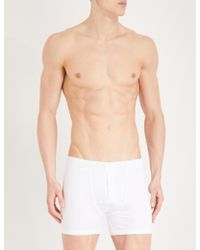 Hanro - Slim-fit Stretch-cotton Trunks - Lyst