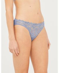 Hanro - Moments High-rise Floral-lace And Cotton Briefs - Lyst