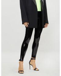 Commando Patent Faux-leather leggings - Black