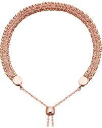 Astley Clarke - Kula Biography 18ct Rose-gold Peach Woven Bracelet - Lyst