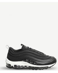Lyst - Nike Air Max 97 Leather Trainers in Black for Men 4d56ed6d2