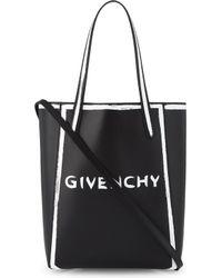 Givenchy - Stargate Graffiti Logo Leather Tote Bag - Lyst