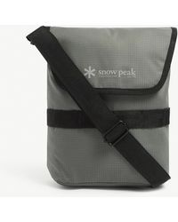 Snow Peak Graphic-print Woven Cross-body Bag - Grey