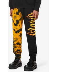 Haculla Flames Relaxed-fit Cotton-jersey jogging Bottoms - Orange