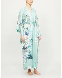 Meng Floral-print Silk Kimono - Green